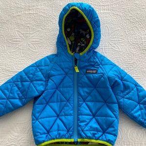 Patagonia reversible puff jacket 6-12 months.